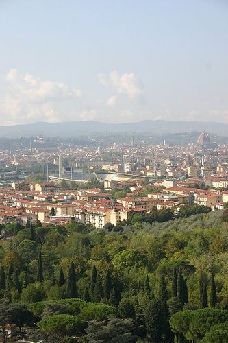 The view from Villa il Salviatino - Florence.