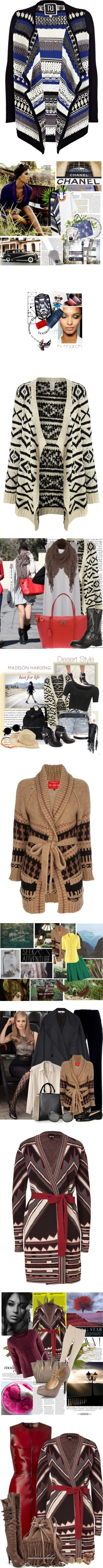 """You Asked: What to Wear With a Tribal-Print Cardigan?"" by polyvore-editorial ❤ liked on Polyvore"