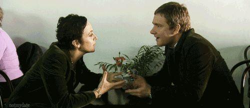 "Benedict Cumberbatch:  ""Martin Freeman and Amanda Abbington are..."""