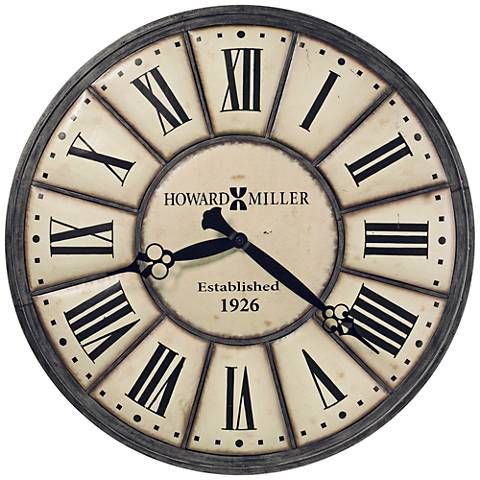 "Howard Miller Company Time 49"" Round Off-White Wall Clock"
