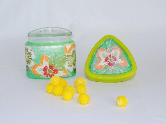green glass jars with lids jars of spices decoupage jars cookie jar