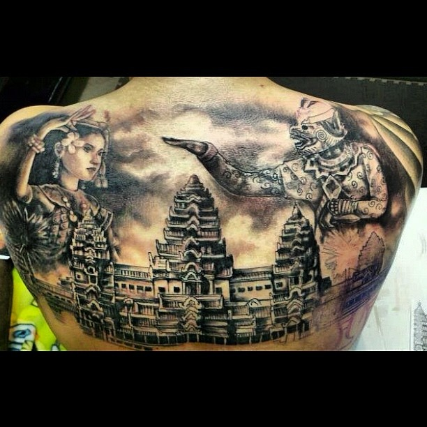 Quite possibly the sickest #Angkor tattoo EVER!! #popular #viral - @khmerican | Webstagram