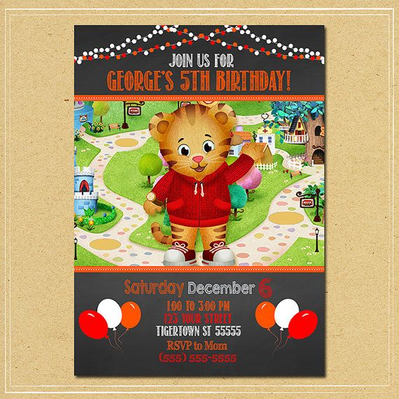 The 13 best Daniel Tiger Party Printables images on Pinterest