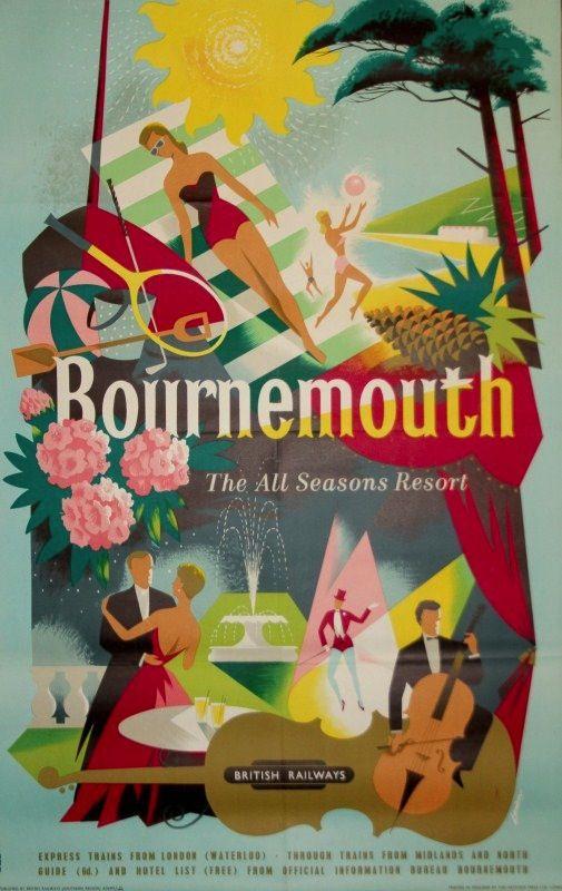 R M Lander Bournemouth poster British Railways