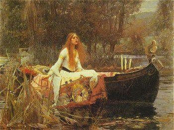 "Love Pre-Raphaelite art - John Wiliam Waterhouse ""Lady of Shallot"""