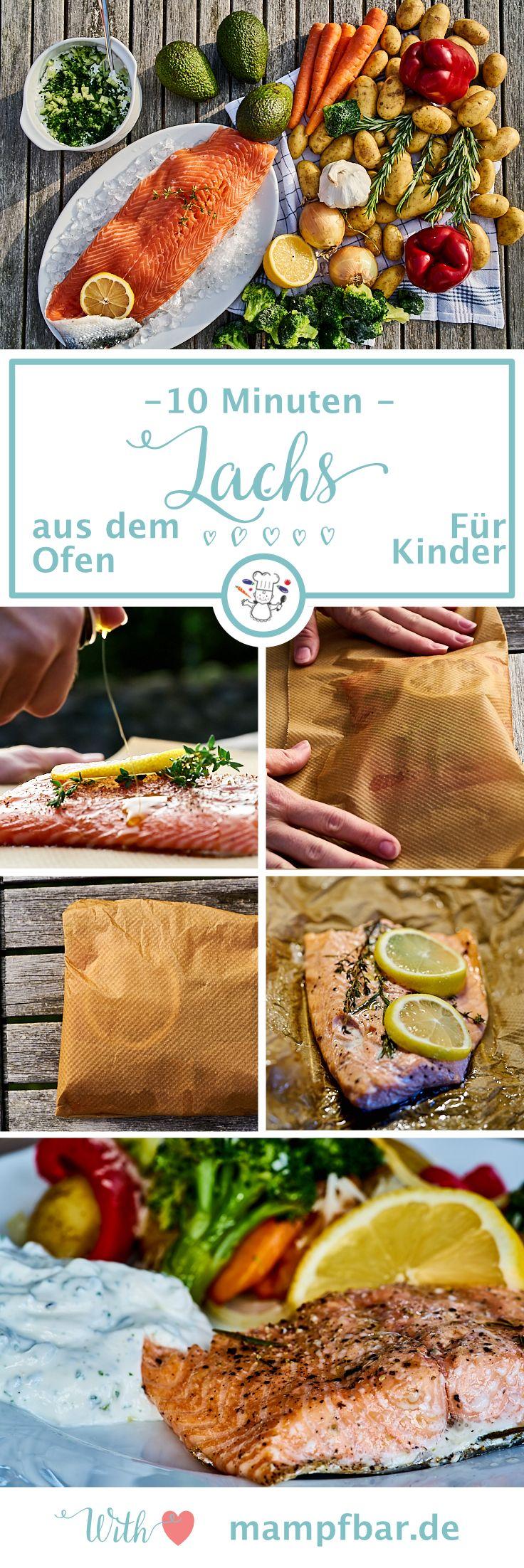 Schnell, einfach und richtig lecker: dieser Lachs aus dem Ofen ist in 10 Minuten fertig und ein super Gericht für Babys & Kinder. Klicke hier für das ganze Rezept und viele weitere leckere Ideen für deine Familie.