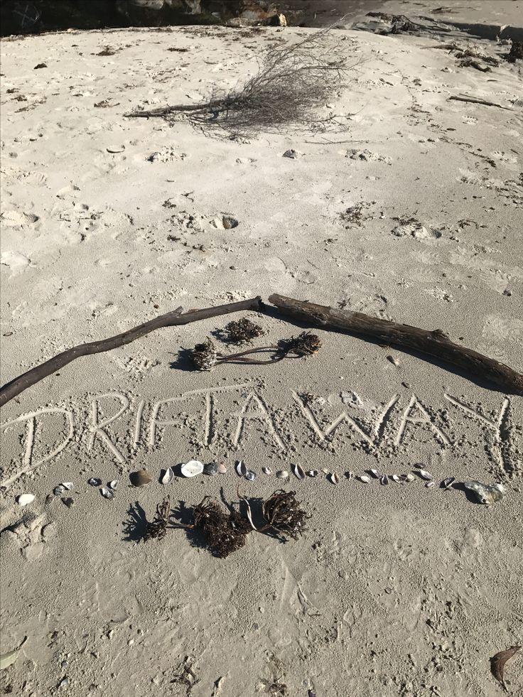 Driftaway sign at the beach