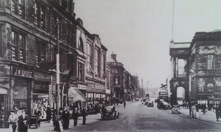 Blackburn Road in Accrington, pictured in the 'glory days'