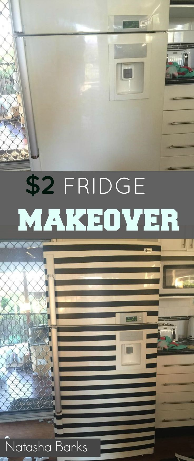 NATASHA'S $2 FRIDGE MAKEOVER | Grillo Designs