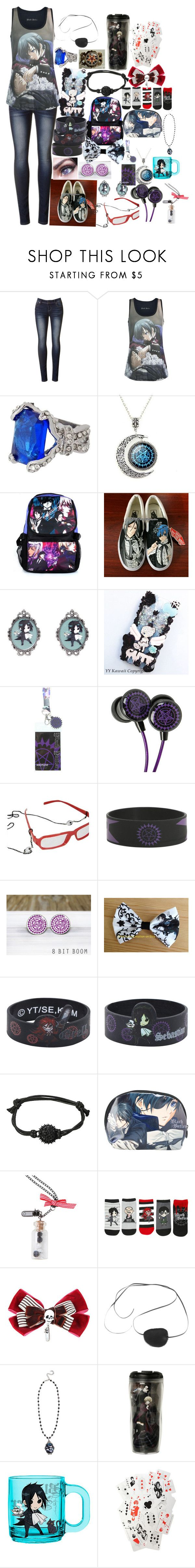 """""""Black butler"""" by piercethesydney02 ❤ liked on Polyvore featuring beauty, Ciel, Sebastian Professional and Vans"""