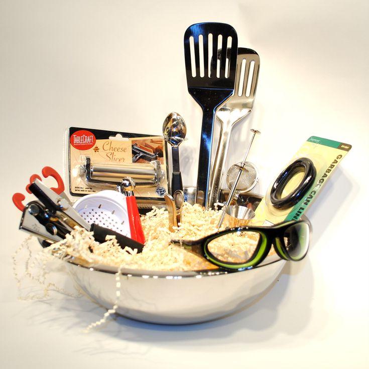 Put Together A Kitchen Basket For A Bridal Shower Or