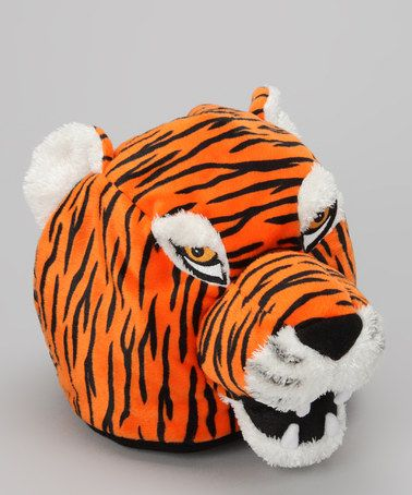 Just cause it's a tiger - Take a look at this Clemson Mascot Hat - Kids by TeamHeads on #zulily today!