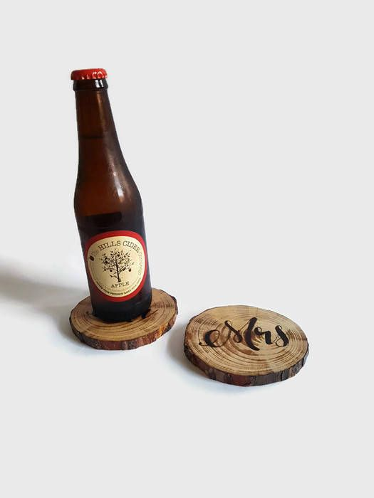 Wood Coasters Wedding Coasters Pyrography by Memoriesfromashore