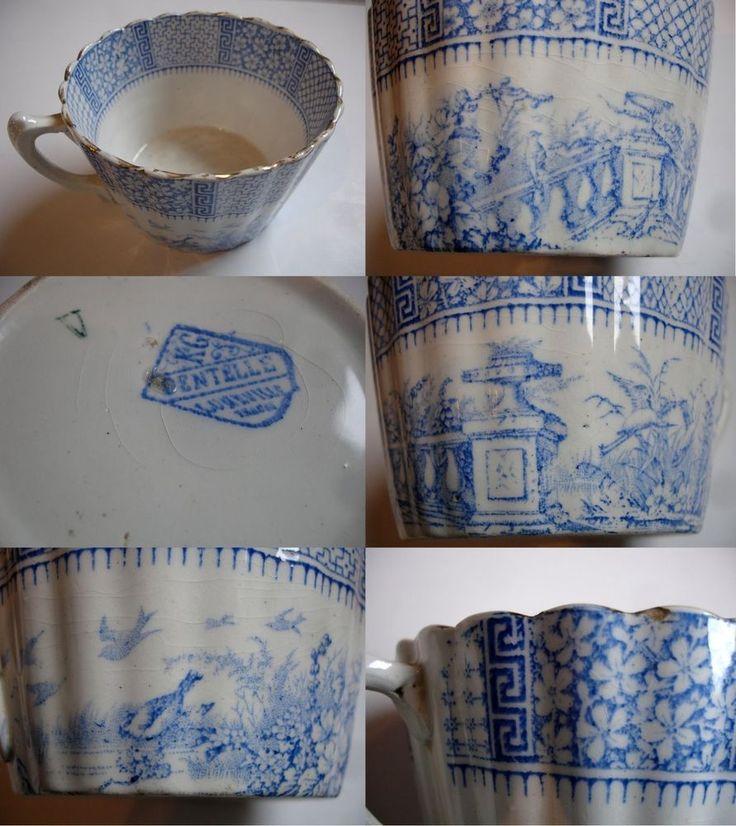 Rare tasse luneville k g keller guerin mod le dentelle for Ancienne maison cutlery