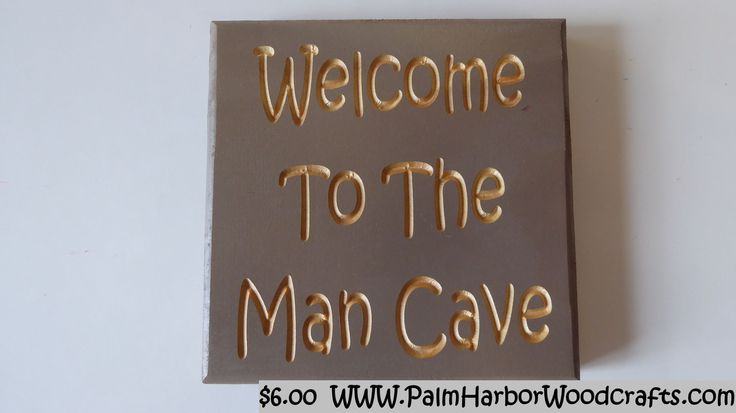 A 5.5 inch tall by 5.5 inch wide 3/4 inch thick carved wood sign. The back of the sign has keyholes for easy hanging.