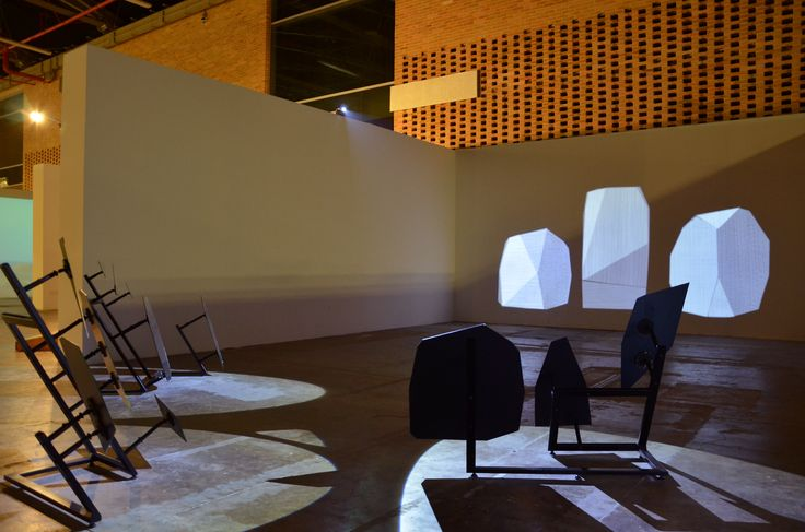 John Mario Ortiz. Rendering, 2013. Iron structures, mirrors, LED spot lights. Variable dimensions.