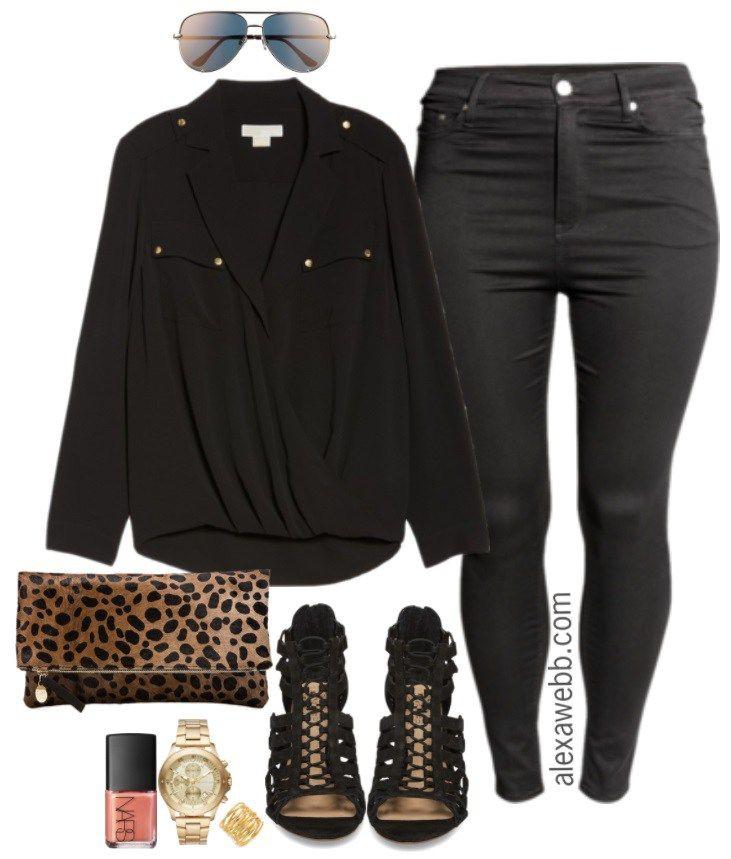 fc562e6a9aa Plus Size Black Jeans Outfits - Plus Size Fashion for Women - alexawebb.com   alexawebb  plussize