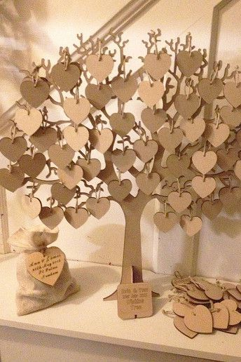Laser Cut Heart's for the Guestbook at Weddings