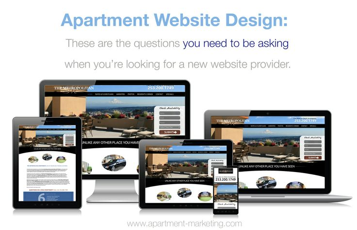Apartment Website Design... questions you need to be asking!