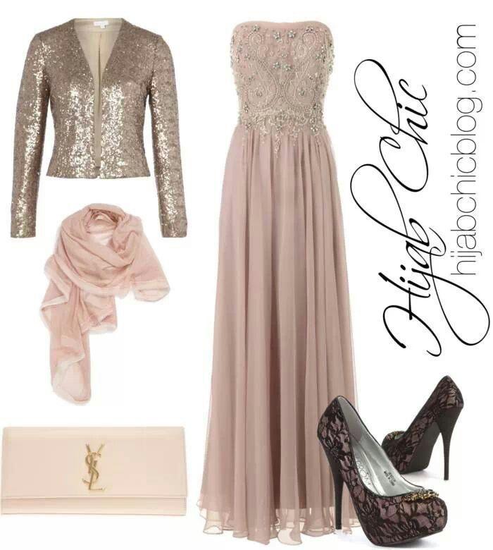 So elegant hijabi dress.. Suitable for weddings...luv it