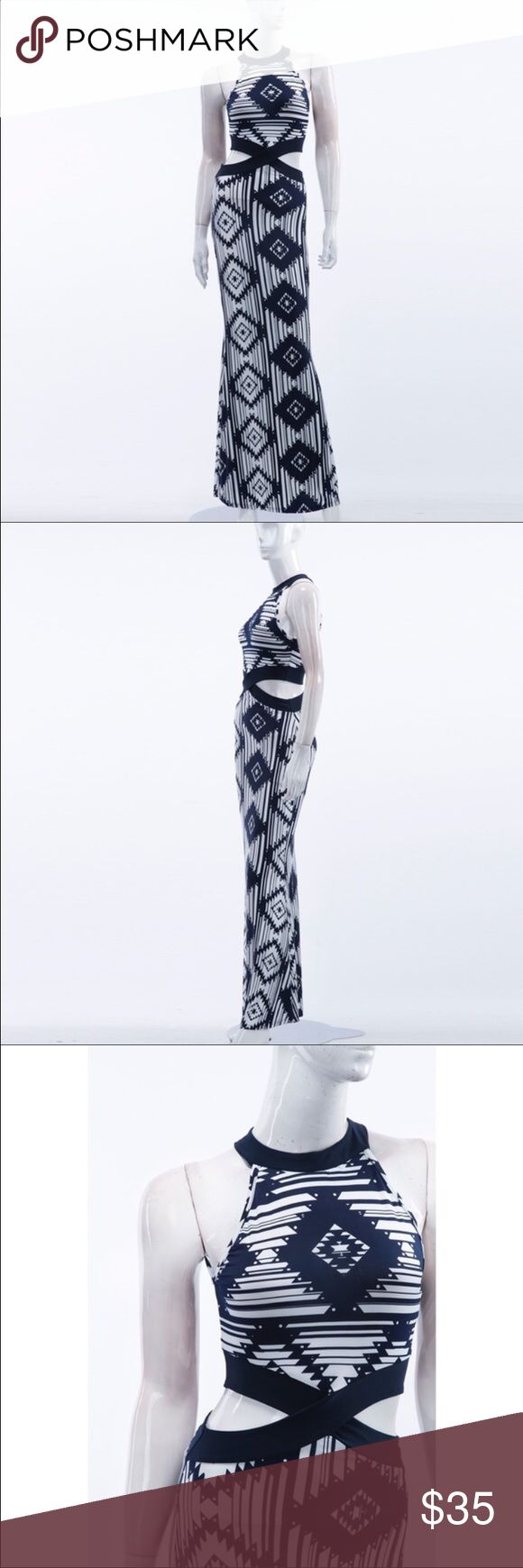 🎀coming soon🎀 Geo Aztec designed maxi dress. With a cut out waist. Beautiful and coming soon. 🎀BOUTIQUE ITEM🎀 Dresses Maxi
