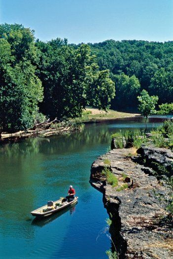 The Kings River in the Arkansas Ozarks serves up some of the state's most scenic floating and fishing. Photo by Keith Sutton.