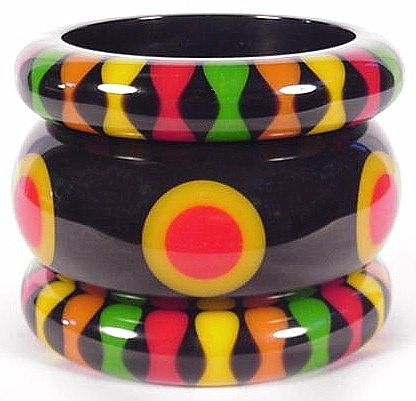 Time Dances By - Bakelite & Other Plastic Jewelry:BB206, BB184, BB208
