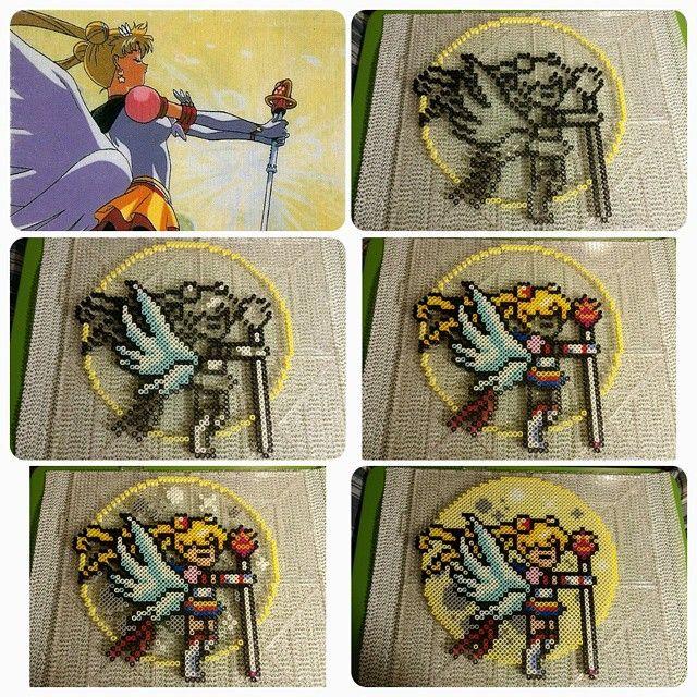 Eternal Sailor Moon perler fuse beads by b.dawg.skip