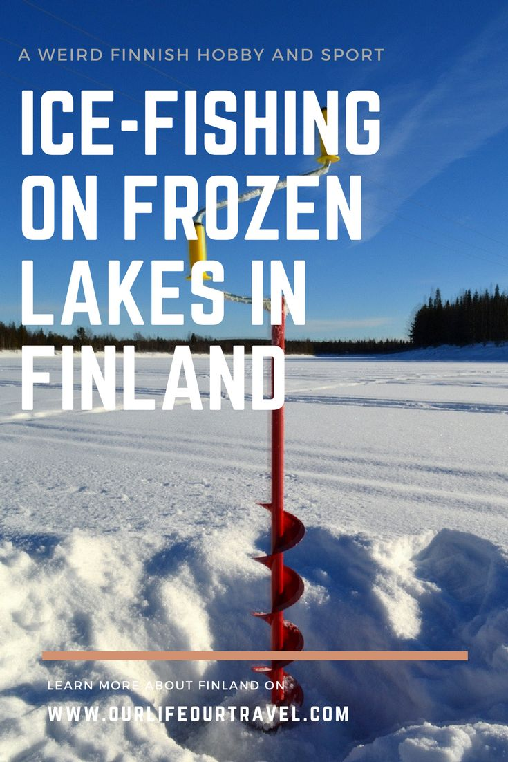 Ice-fishing is a popular sport and hobby activity in Finland during the winter time. Try it when you visit Lapland!