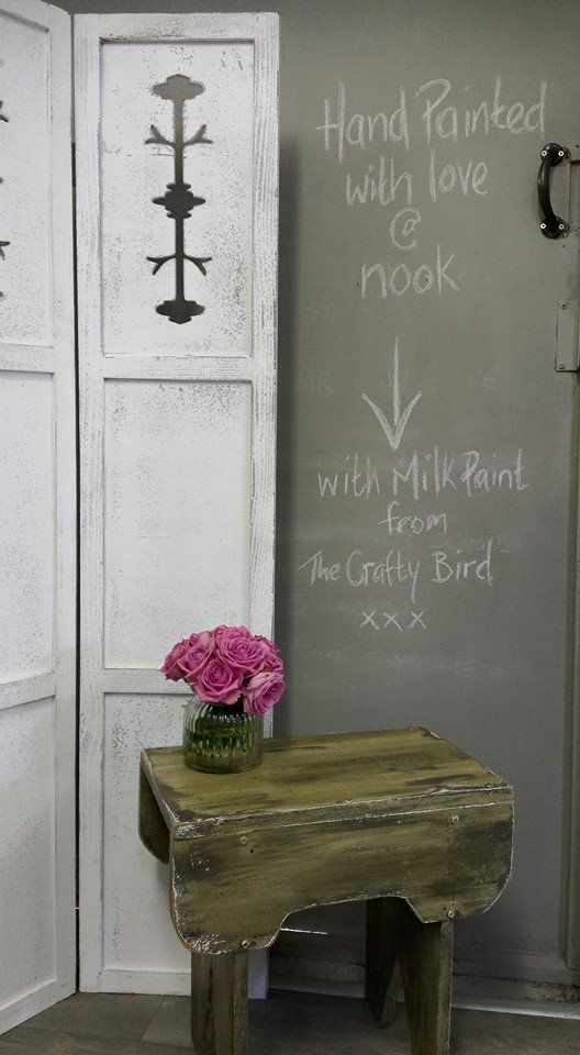 Rustic chippy table using The Crafty Bird Milk Paints www.milkpaint.ie