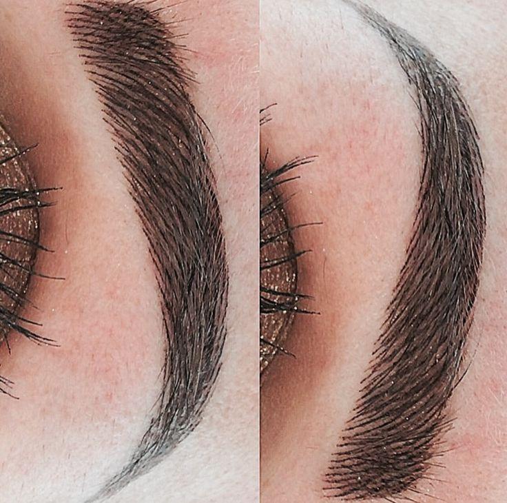 Pigmentation sourcils effet ultra réaliste. Méthode microblading mélangée à la méthode Shade Hairstroke. #maquillage permanent