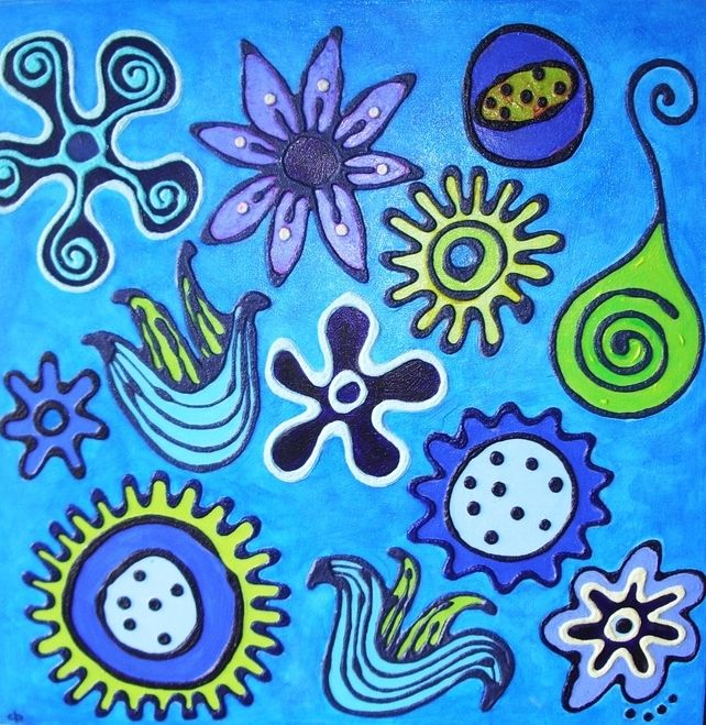 """""""Turquoise Daisys"""" £70.00"""