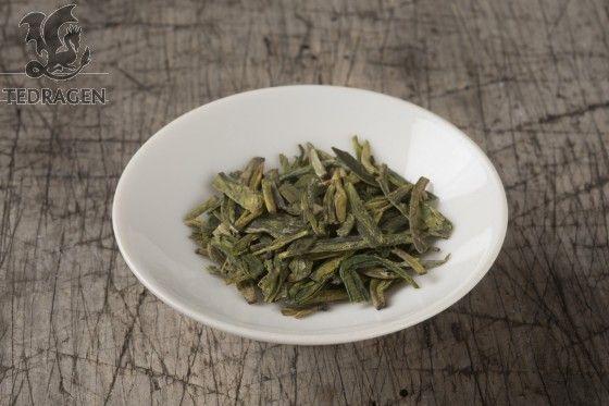 Dragebrønn teblad Long Jing Green tea  www.tedragen.no  Foto: www.tbfoto.no