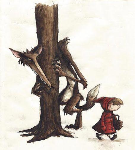 Pinzellades al món: ... I el llop persegueix a la Caputxeta Vermella: il·lustracions / ... Y el lobo persigue a Caperucita Roja: ilustraciones / ... And the wolf chasing Little Red Riding Hood: Artwork (31)