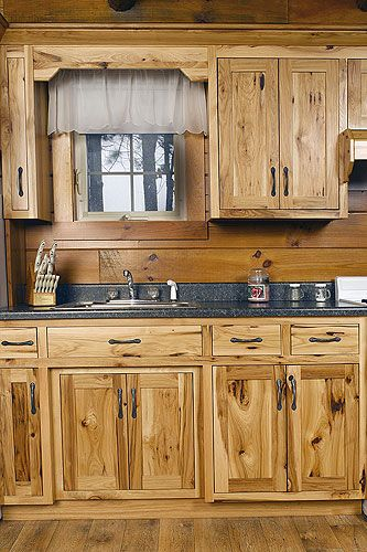 Assembled Hickory Kitchen Cabinets Hickory Wood Kitchen