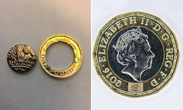'Minting errors' leave new £1 coins with melted centres