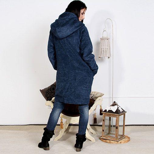 Luxury coat. Coat. BLU coat. Extravagant coat. by MIAatelier