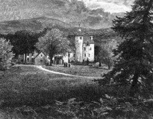 Vintage Picture of Abergeldie Castle, 1900 - Aberdeenshire, Scotland