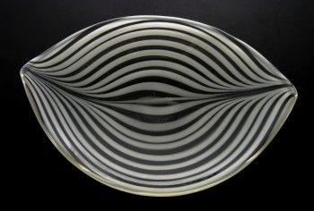 Designed by Maija Karlsson for Finnish firm Oy Kumela 1950 - opaque ribbons of white