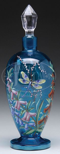 Moser Decorated Dragonfly Perfume Bottle