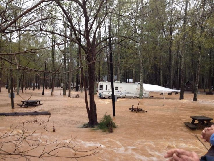 Serious flooding at Tannehill State Park. Photo from @luv2rvbig - James Spann - Google+
