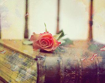 """Загружаемые фотографической печати """" кожаный коричневый Библии',антикварное кресло,роза,Домашний интерьер,декор стен,а стена искусства,Библия изображения,Библия Wall Art,"""