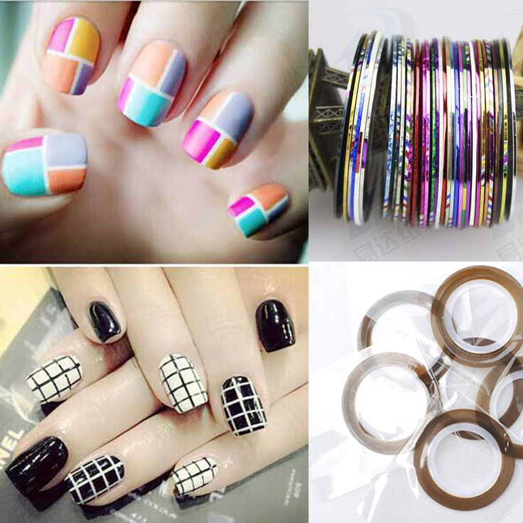 10 Pcs Mixed Color Rolls Striping Tape Line Nail Art, Nails ...