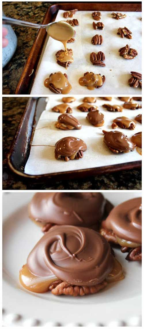 Recipe for Homemade Turtle Clusters - Oh how I love Turtle Clusters and they are even better when they are homemade! So I believe I'll try these this Holiday season!