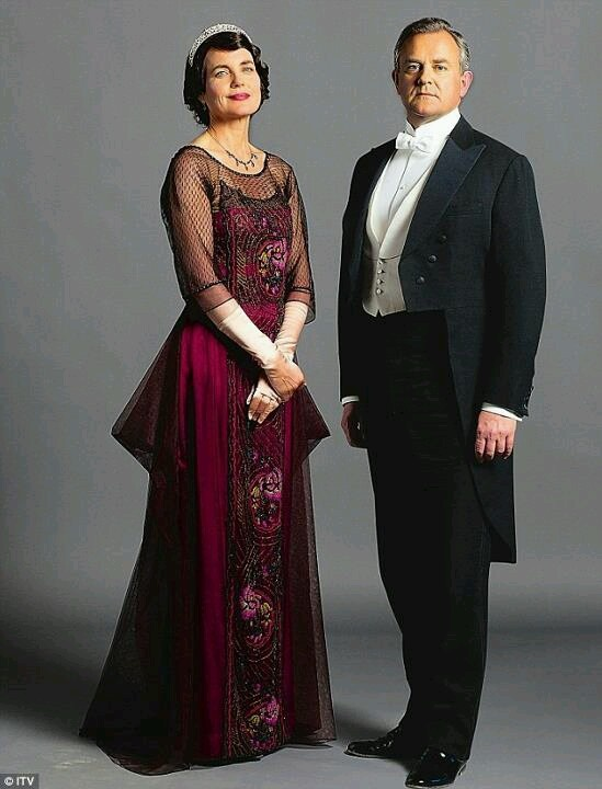 Downton Abbey costumes - Cora and Robert Crawley.