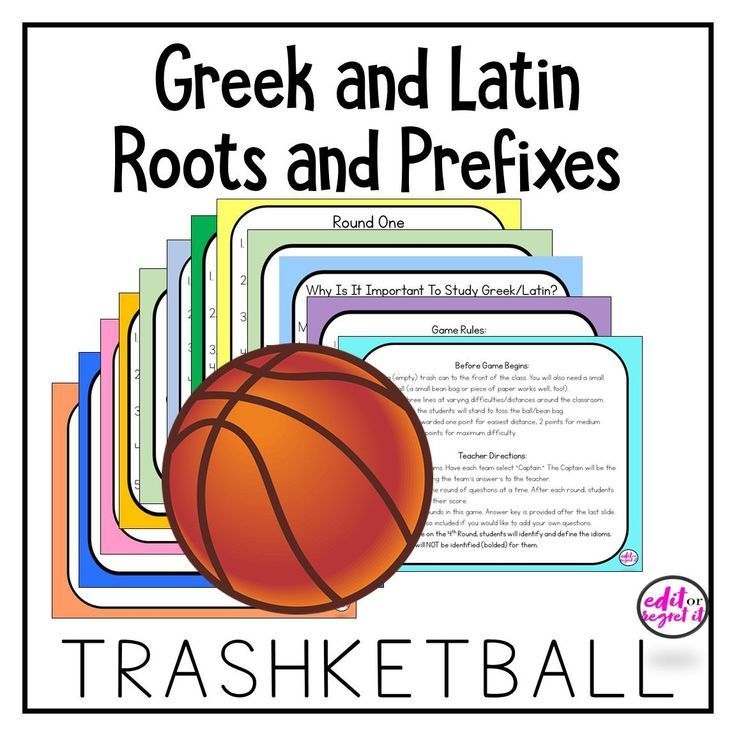 Greek and latin prefixes and root word trashketball review