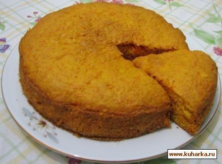 Рецепт: Морковный пирог (Постный)
