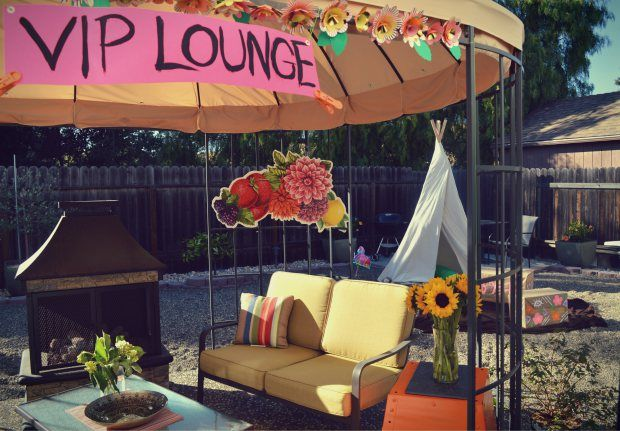Create a VIP Lounge in your backyard perfect for a Coachella themed party!