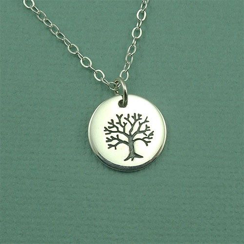 Petite Tree of Life Necklace - sterling silver necklace - tree necklace - tree jewelry - tree pendant - popular necklaces by TheZenMuse on Etsy https://www.etsy.com/listing/77608608/petite-tree-of-life-necklace-sterling