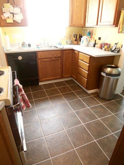 Kitchen Floor Tile | It is high time I wrote about our completed kitchen tile project. We ...